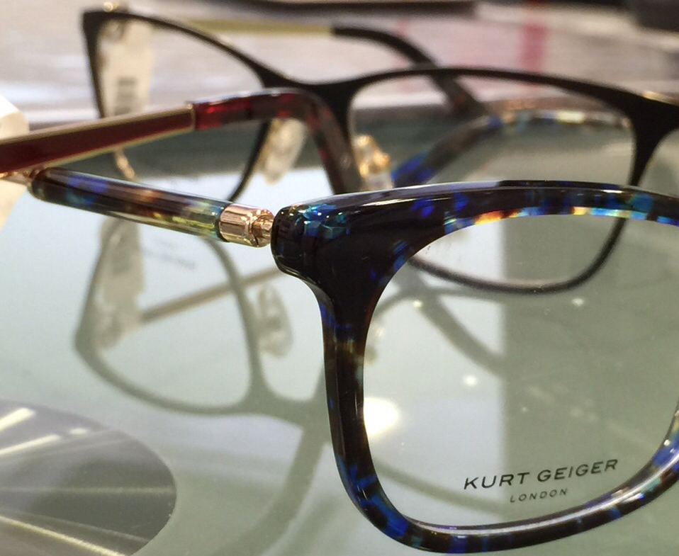 Luxe Kurt Geiger Frames available from Richard Petrie Optometrists