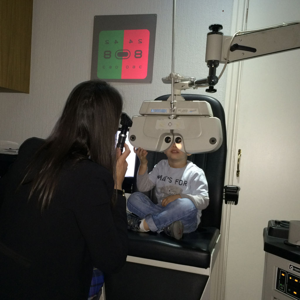 Alfies first eye test at Richard Petrie Optometrists